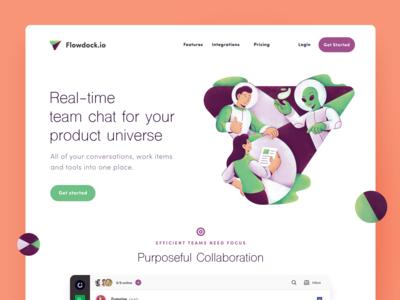 Flowdock Group Chat Website