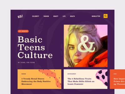 KUL! Teen Magazine Website mag digest issue newsletter journal startup lifestyle trends platform project management entrepreneurship teen magazine news project activity business magazine management product implementation