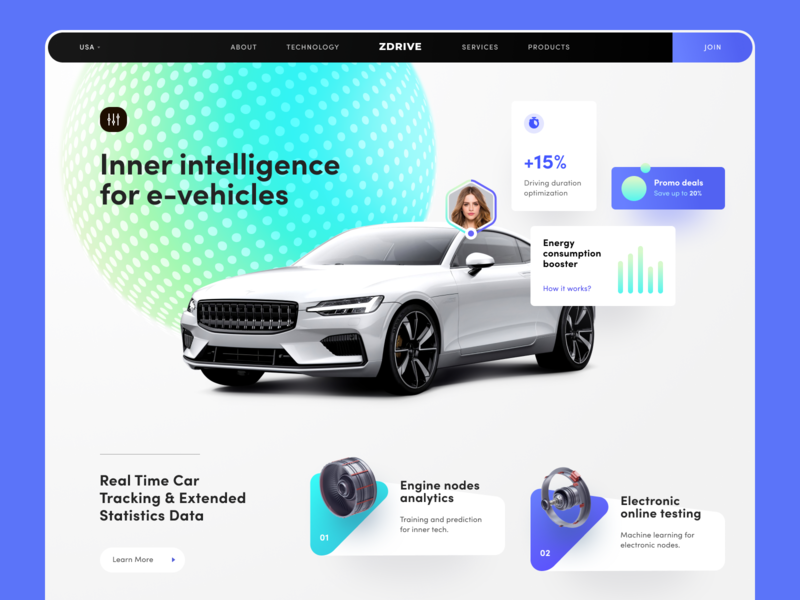 ZDrive Car Analytics Website smart management service vehicle driving marketing industry commercial entertainment smart car gadgets startup lifestyle platform entrepreneurship project activity business management product implementation
