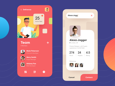 Teampoint Management App ui mobile planning app project management asana trello task management productivity communication business service cooperation interaction teamwork illustration digital activity service startup business