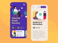 Interior Geek Society Mobile App