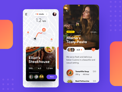 I ❤️ food app information product design finder app picture entertainment tasty eat catering delicious food service guide food tech business digital app activity service startup business product