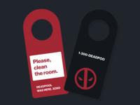 Deadpool Business Card - Door Hanger