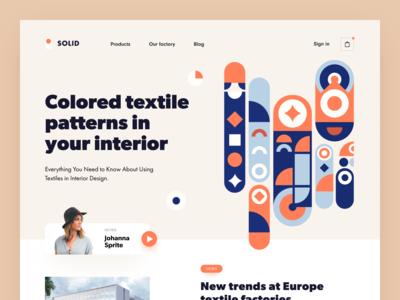 Solid Textile Web