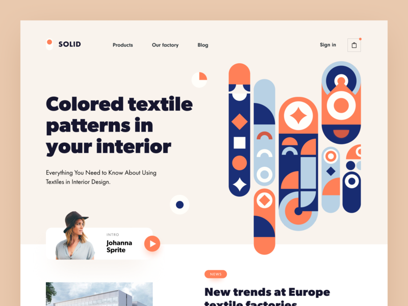 Solid Textile Website website platform interior web stylish colourful decor housing style detail pattern interior design interior blog textile website textile factory furniture design