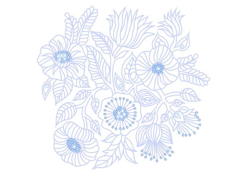 Vector Graphics vectorart vector illustration vector flower illustration art graphicdesign design flowers blue illustrator floral illustration art illustration