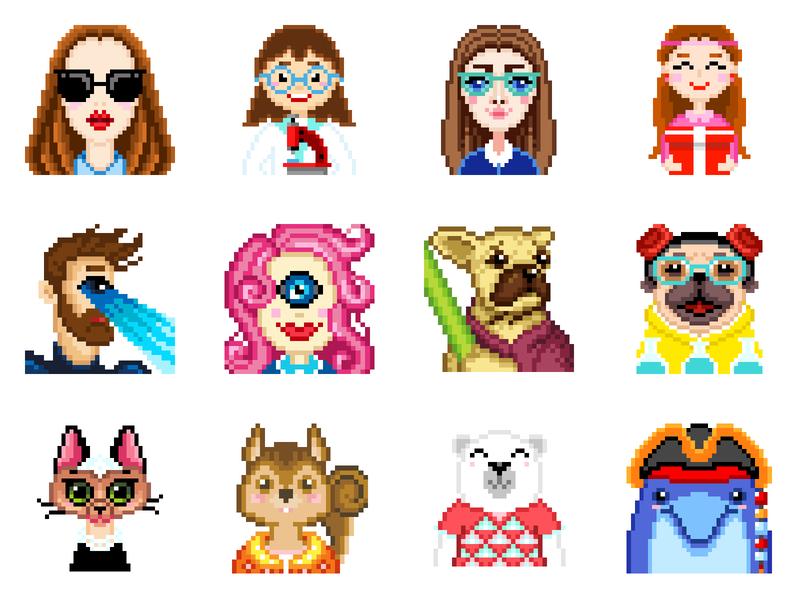 Pixel Art pixel coloring coloring photoshop 8bitart 8bit portrait pixels art character design graphicdesign illustration design pixelartist pixel art