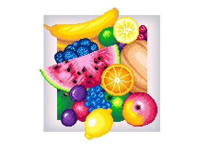 Pixel Art pixel art fruit colorful fruit illustration fruits summer colors pixels art graphicdesign design illustration pixelartist pixel art