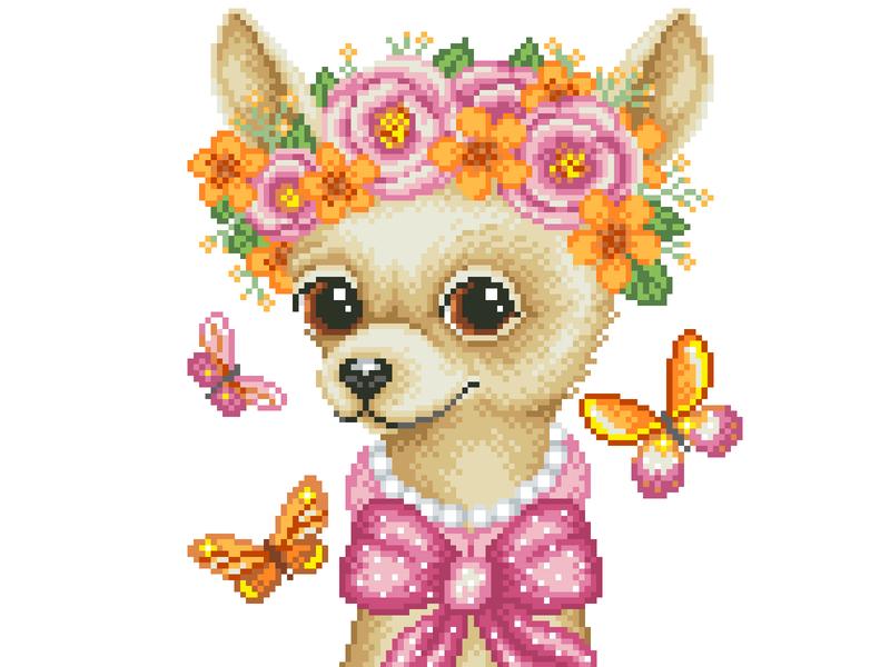 Pixel Art design illustration art dog illustration dog art character design graphicdesign pixels pixelart pixelartist illustration chihuahua