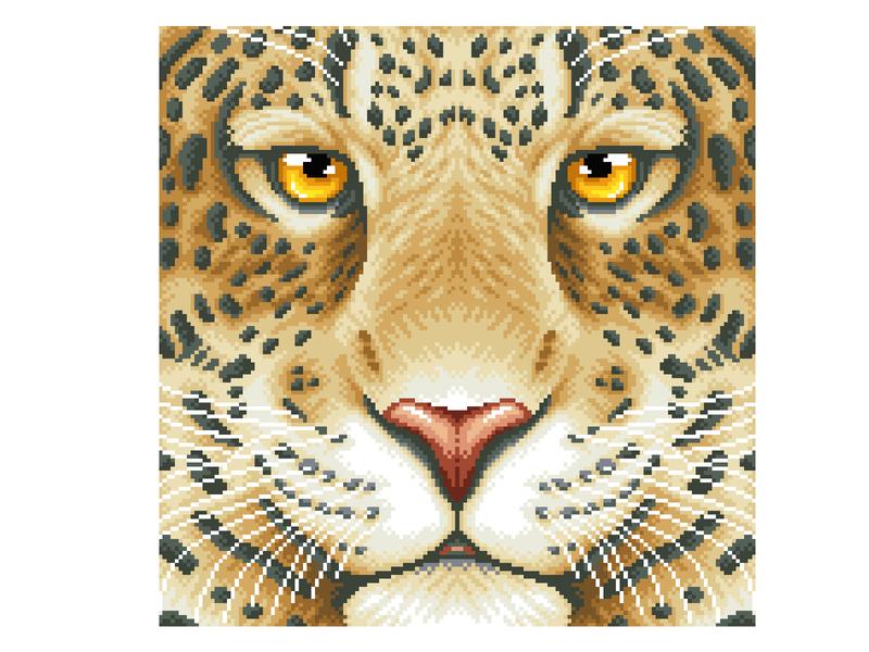 Pixel Art illustration art art design animal illustration animal cat leopard character design pixelartist pixels illustration pixelart