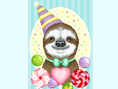 Pixel art animal illustration candy party animal illustration art character design illustration graphicdesign pixelartist pixels pixel art pixelart