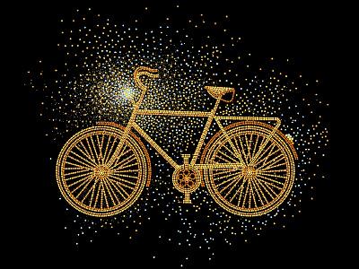 Illustration vector illustration vector art design gold black illustration art graphicdesign illustration bike