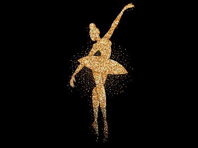 Illustration vector woman vector illustration dance black golden ballerina illustration art design graphicdesign illustration