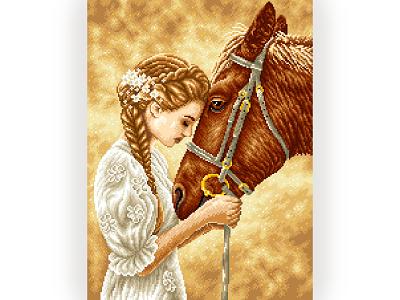 Pixel Art character design horse girl portrait sepia gradient pixels illustration art graphicdesign illustration pixelartist pixelart