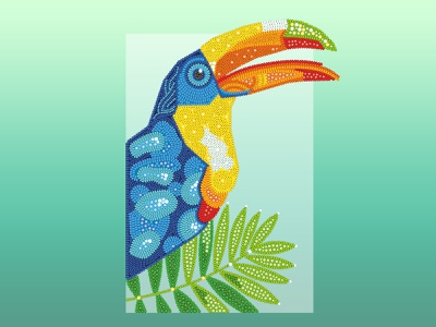 "Illustration ""Bird of Paradise"" toucan vector vector illustration bird illustration colors gradient character design illustration art design graphicdesign illustration"