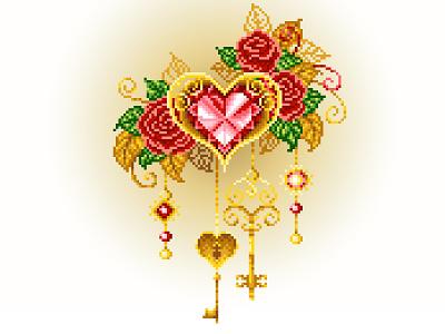 Pixel Art illustration love gold pixel art keys heart illustration art design graphicdesign pixelartist pixels pixelart illustration