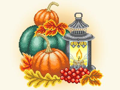 Pixel Art. Autumn. fall colors fall design pixelart illustration art graphicdesign illustration pixelartist pixels pixel perfect pixel art pumpkin autumn