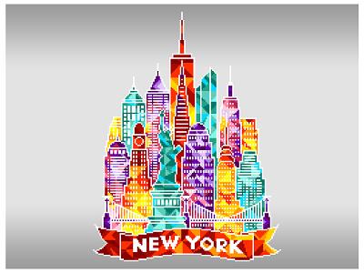 New York City. Pixel art. pixel artist pixel perfect pixels digital art colorful illustration art pixel art graphicdesign design illustration n.y.c. new york new york city
