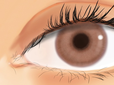 Iris human portrait realistic digital art realistic drawing