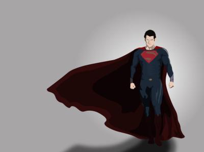 Superman design illustration