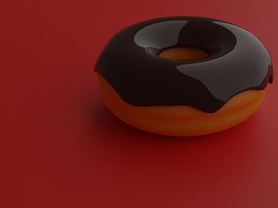 Doughnut 3d art food