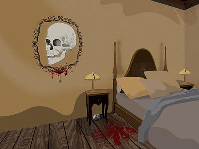 Mild spooky spooky vector illustration horror