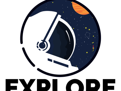Space Tee branding vector illustration design