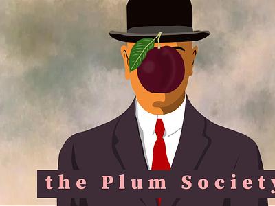 The Magritte Plum concept design vector illustration