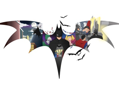 Preview of The Batman superman harley quinn joker batman v superman artwork illustration illustration art vector art logo flat logo flatstyle batman
