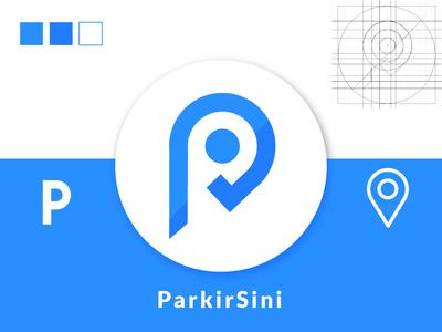 ParkirSini Logo Design