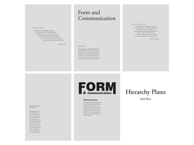 Hierarchy Plates layout garamond adobe indesign digital graphic design typography