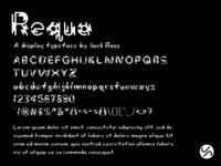 Requa [Typeface] typeface design typeface type fontself vector type design graphic design digital adobe illustrator typography