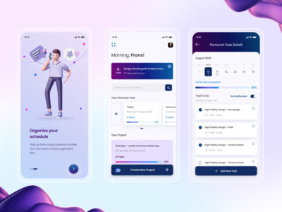 Task Management App planner task list adobe illustration figma ui design task manager task management mobile app mobile ui ux ui