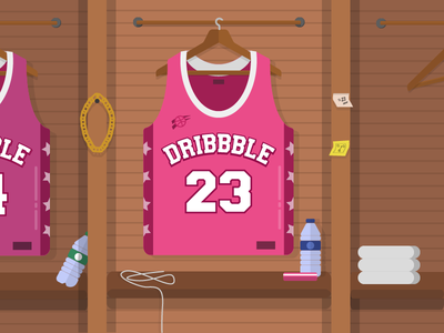 First jersey basket ball gold chain bottle water debut illustration jersey basket