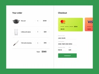 Day 2 #DailyUI Challenge Credit Card Checkout Page