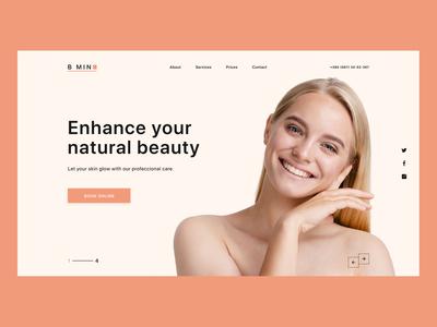 Beauty Salon Landing Page - #DailyUI Challenge Day 3