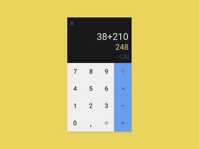 Calculator Minimalistic Design #DailyUI Challenge Day 4