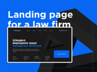 Landing Page Concept for a Law Firm
