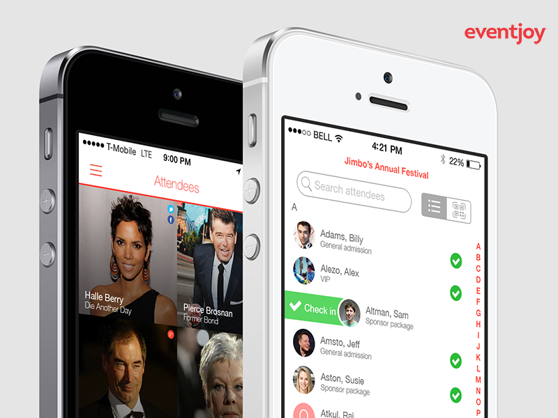 Eventjoy organizer and attendee mobile apps mobile eventjoy