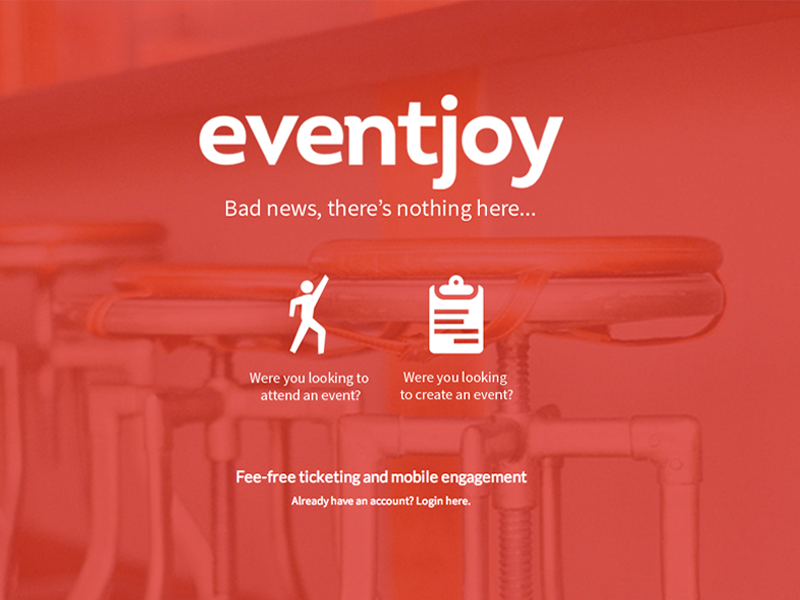 404 Page eventjoy 404