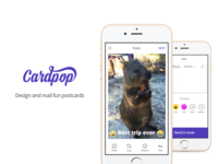 Cardpop | Snapchat for postcards