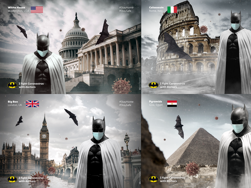 Batman joined the white army egypt doctors coronavirus batman
