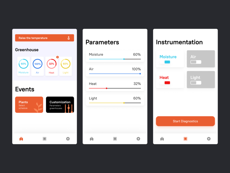New Greenhouse clean ui orange ux mobile app mobile ui ui clean vector ux  ui app figma