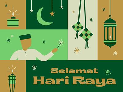 Selamat Hari Raya ramadan festive illustration design selamat hari raya eidmubarak eid illustration