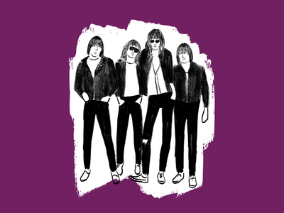 Ramones punkrock music ramones digital drawing illustration