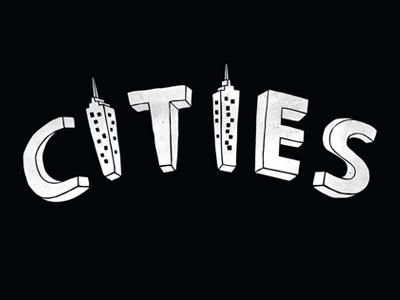 Cities blackandwhite hand lettering typography lettering cities