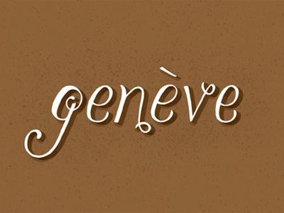 Geneve illustration suisse switzerland geneva geneve lettering hand lettering typography