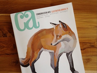 Communication Arts cover illustration fox cover muted darren booth communication arts ca