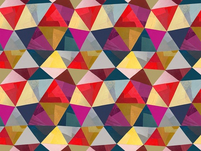 Triangle Shift surface design painterly collage textile pattern