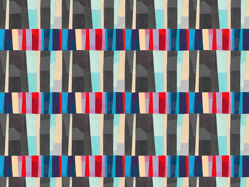 Pattern 4 repeated surface design painterly collage textile pattern